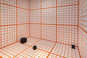 Channa Horwitz: Orange Grid, 2013